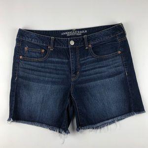 American Eagle Midi Jean Shorts Dark Wash Size 12